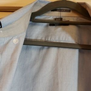 Kenneth Cole Reaction Blue Stripe Shirt Size M